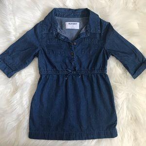 Old Navy Toddler Girl Denim Dress SZ 3T 💙